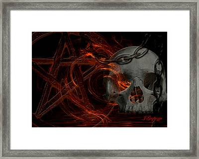 River Hell Framed Print by Jean Gugliuzza
