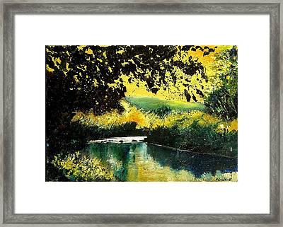 River Houille  Framed Print by Pol Ledent