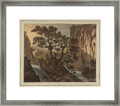 River In A Gorge Framed Print by MotionAge Designs
