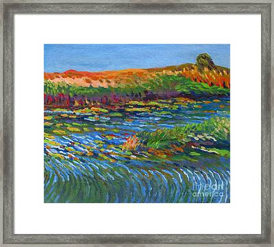 River In Bloom Framed Print by Vanessa Hadady BFA MA