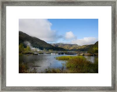 River In The Mountains Framed Print by John Mueller