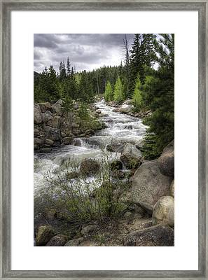 River In The Park Framed Print by G Wigler