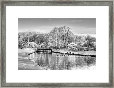 River In The Snow Framed Print