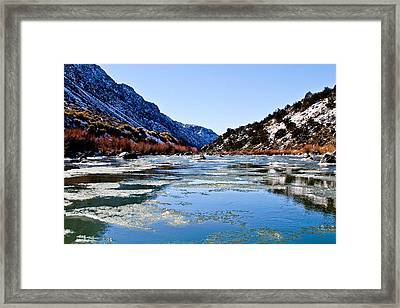 River In Winter Framed Print