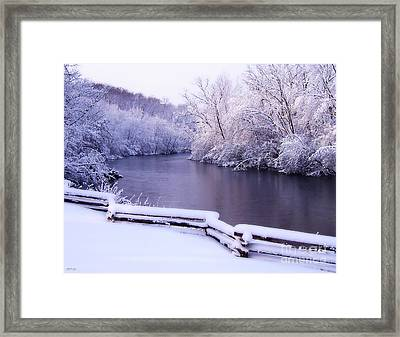 River In Winter Framed Print by Phil Perkins