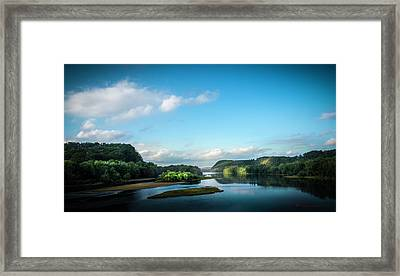 Framed Print featuring the photograph River Islands by Marvin Spates