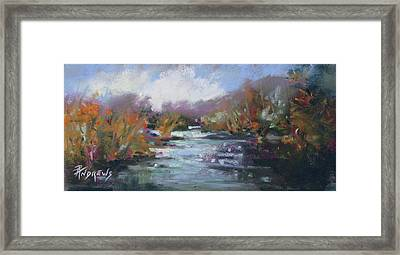 River Jewels Framed Print by Rae Andrews