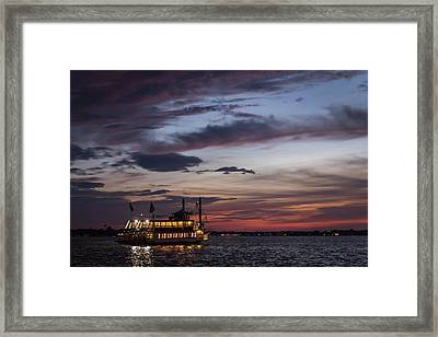 River Lady At Sunset Island Heights Nj Framed Print by Terry DeLuco