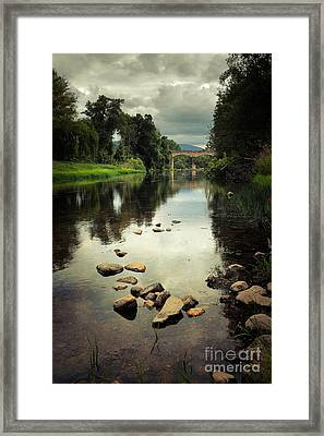 River Landscape Framed Print by Carlos Caetano