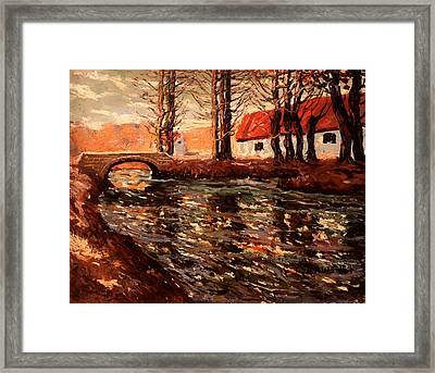 River Landscape Framed Print by Mountain Dreams
