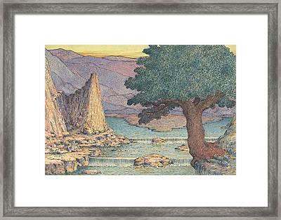 River Landscape With Rapids Framed Print