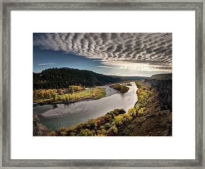 River Light Framed Print by Leland D Howard