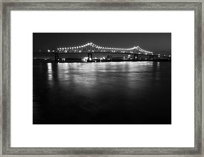 River Lights Framed Print by John Gusky