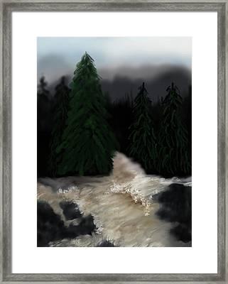 River North Carolina  Framed Print