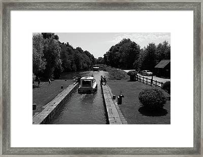 River Locks Of France Framed Print by Aidan Moran