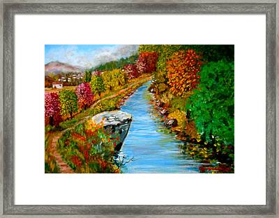 River Lousios  Framed Print