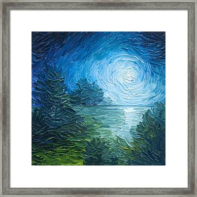River Moon Framed Print