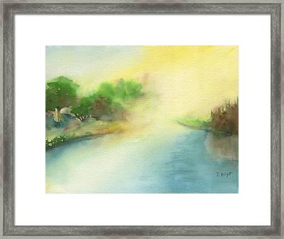 River Morning Framed Print by Frank Bright