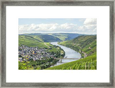 River Mosel And Vineyards Framed Print by Patricia Hofmeester