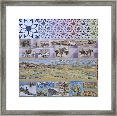 River Mural Spring Panel Top Half Framed Print