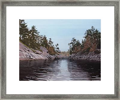River Narrows Framed Print