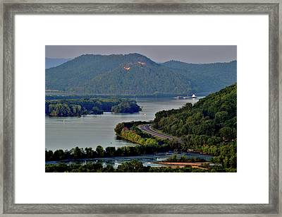 River Navigation Framed Print