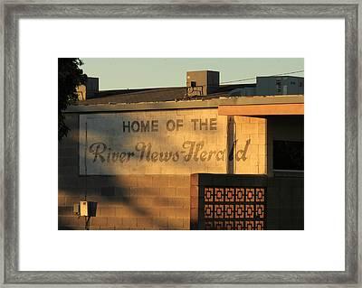 River News-herald Framed Print by Troy Montemayor