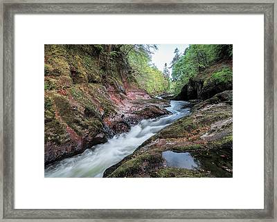 River North Esk Framed Print by Dave Bowman