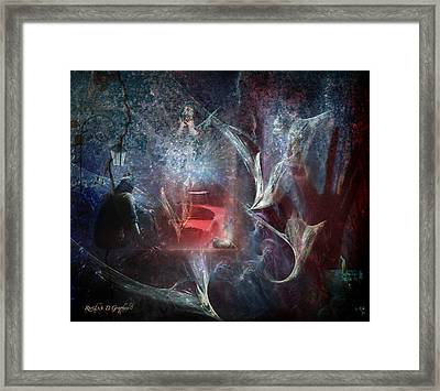 Framed Print featuring the digital art River Of Deceit by Rhonda Strickland