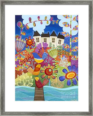 Framed Print featuring the painting River Of Dreams by Carla Bank