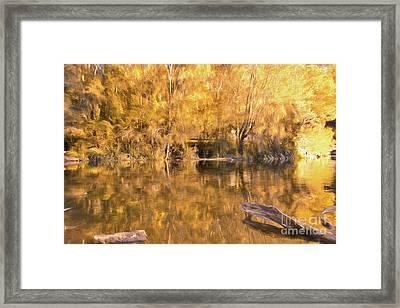 River Of Fire By Kaye Menner Framed Print by Kaye Menner