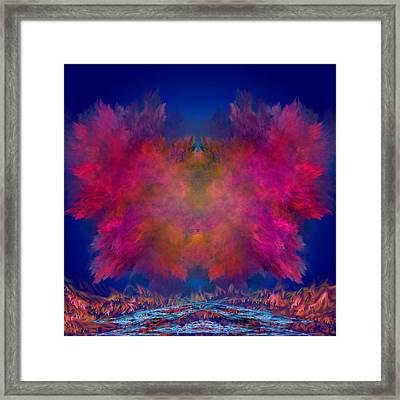 River Of Fire Framed Print by Mark W Ballard