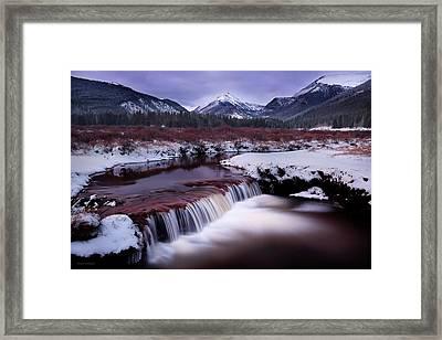River Of Glass Framed Print