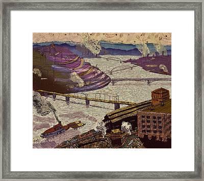 River Of Industry Framed Print