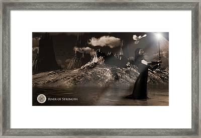 Framed Print featuring the digital art River Of Strength by Everett Houser