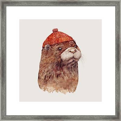 River Otter Framed Print by Animal Crew