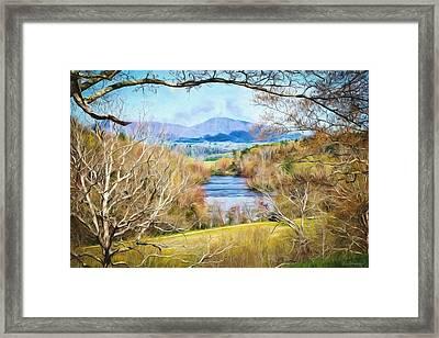 River Overlook Framed Print