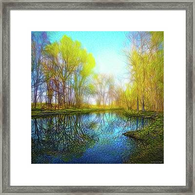 River Peace Flow Framed Print