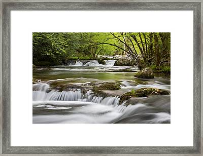 River Peace Framed Print by Sara Hudock
