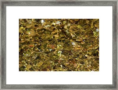 River Pebbles Framed Print