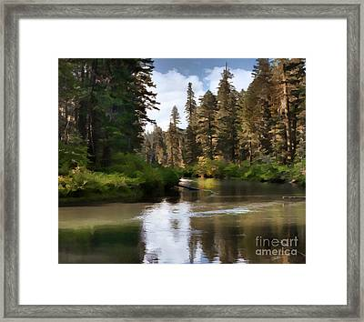 Millers Creek Painterly Framed Print by Peter Piatt