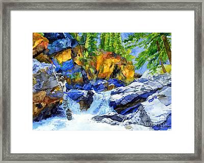 River Pool Framed Print by Hailey E Herrera