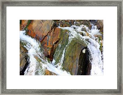 River Power Dashed Upon The Rocks Framed Print by Susie Weaver
