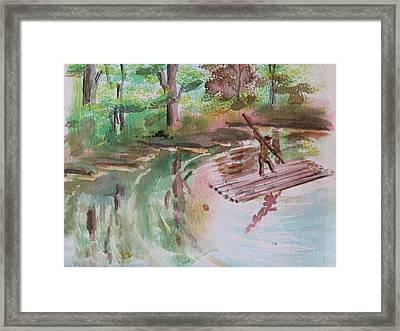 River Rafting Framed Print by Remegio Onia