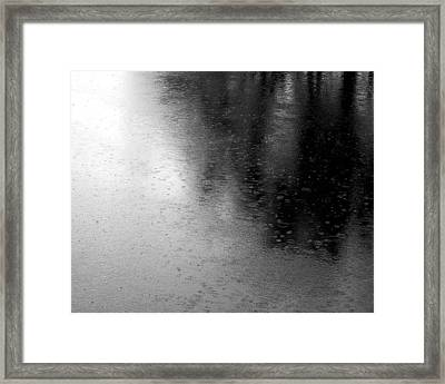 River Rain  Naperville Illinois Framed Print