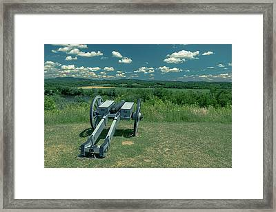 River Redoubts At Saratoga Framed Print by Steven Richman