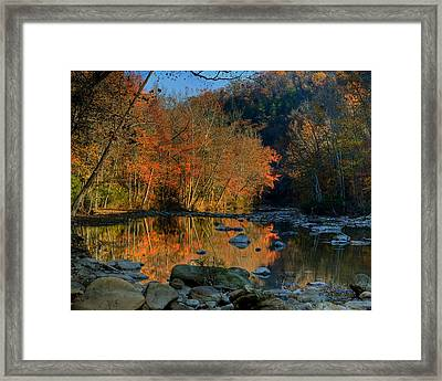 Framed Print featuring the photograph River Reflection Buffalo National River At Ponca by Michael Dougherty