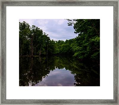 Framed Print featuring the digital art River Reflections by Chris Flees