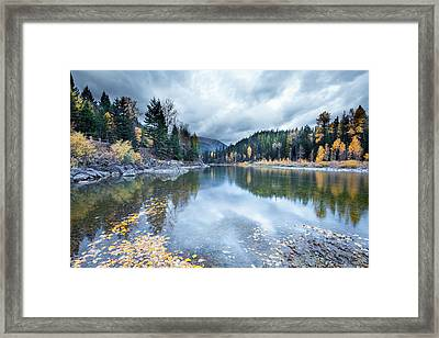 Framed Print featuring the photograph River Reflections by Fran Riley
