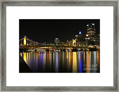 River Reflections Framed Print by Jay Nodianos